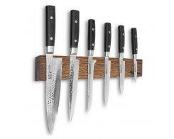 Набор из 6-ти кухонных ножей на магнитном держателе из дуба Yaxell Zen YA/Zen-KS001SOB