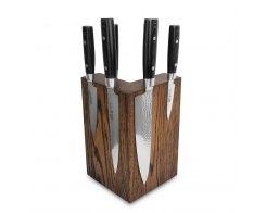 Набор из 6-ти кухонных ножей на подставке из дуба Yaxell Zen YA/Zen-KS003SOB
