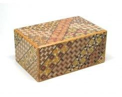 Японская коробка с секретом Yosegi NSZ-PB-010, 10 шагов, 150x95X64 мм.