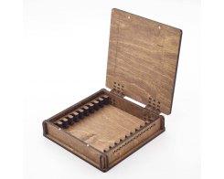 Деревянная шкатулка для хранения 10-ти заточных брусков Жук 5330